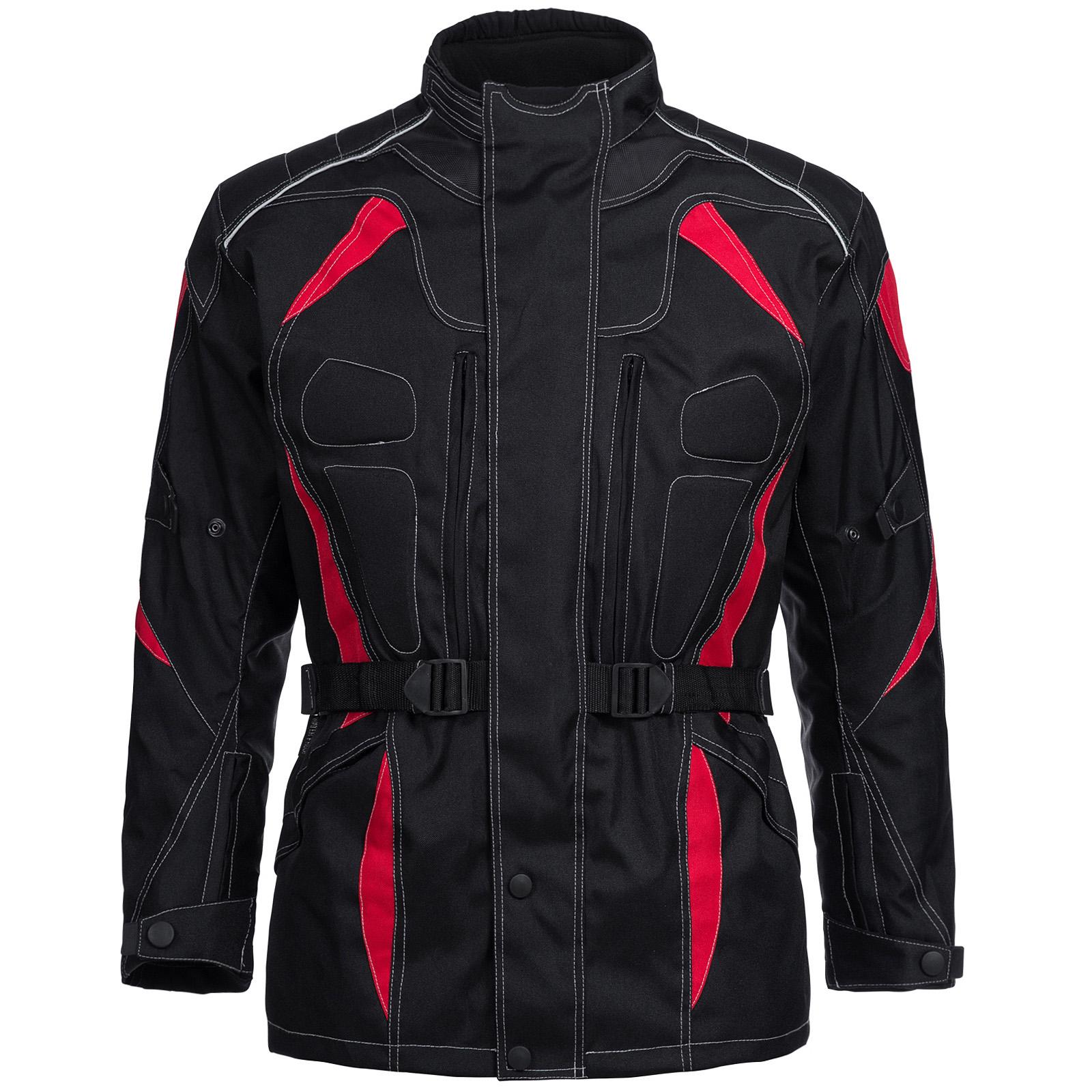 d3708b5a8e7 Chaqueta de MOTO Limitless Hombre Familiar textil cordura negro rojo ...